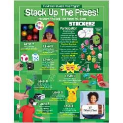 Stack Up The Prizes (Green) Prize Program Poster, 20 x 30