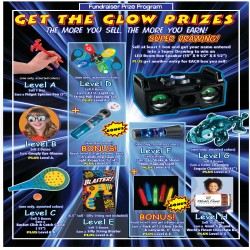 Get the Glow Prize Flyer w/ Super Drawing Level