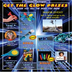 Get the Glow Prize Flyer w/ a Custom Event Level