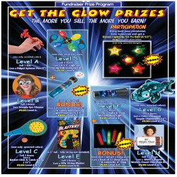 Get the Glow Prizes (Participation) Prize Program Poster, 20 x 30