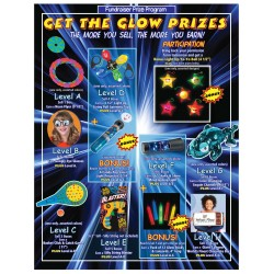 JD Get the Glow Prize Flyer w/ Participation Level JD