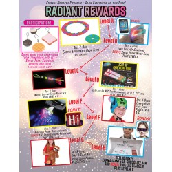 Radiant Rewards Prizes w/ Participation Prize Program Poster, 20 x 30