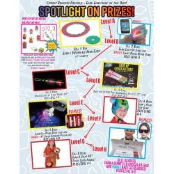 Spotlight On Prizes w/ Participation Prize Program Poster, 20 x 30