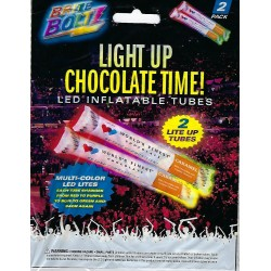Light Up WFC Tube Noisemakers Spirit Sticks set of 2