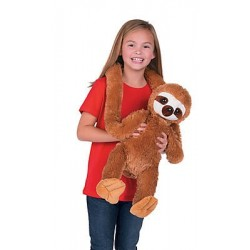 "Sloth Plush, Giant 45"" long"